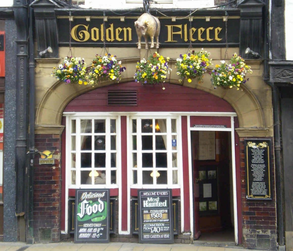 """Golden Fleece Inn York"" by Kaly99 - Own work. Licensed under Creative Commons Attribution-Share Alike 3.0-2.5-2.0-1.0 via Wikimedia Commons - http://commons.wikimedia.org/wiki/File:Golden_Fleece_Inn_York.JPG#mediaviewer/File:Golden_Fleece_Inn_York.JPG"